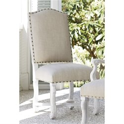 Paula Deen Home Dogwood Upholstered Dining Side Chair in Blossom