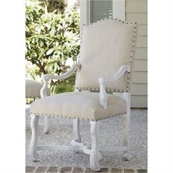 Paula Deen Home Dogwood Upholstered Dining Arm Chair in Blossom