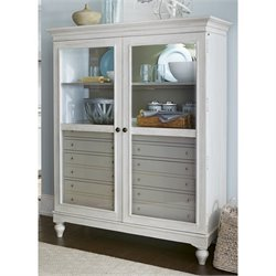 Paula Deen Home Dogwood The Bag Lady China Cabinet in Blossom