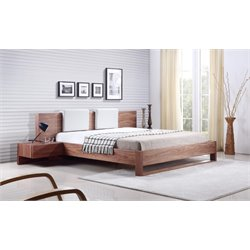 Casabianca Bay King Platform Bed in Walnut