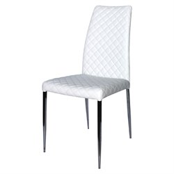 Casabianca Coco Leather Dining Chair in White