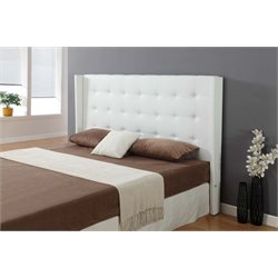Casabianca Cozy Leather Uphonstered King Headboard in White