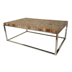 Casabianca Eco Wood Coffee Table in Brown
