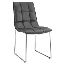 Casabianca Leandro Leather Dining Chair in Black
