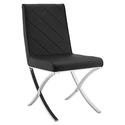 Casabianca Loft Leather Dining Chair in Black