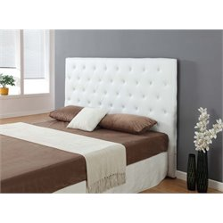 Casabianca Miles Leather Upholstered King Headboard in White