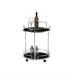 Casabianca Olbia Bar Cart in Black