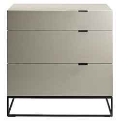 Casabianca Vizzione 3 Drawer Dresser in Gray