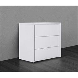 Casabianca Zen 3 Drawer Dresser in White