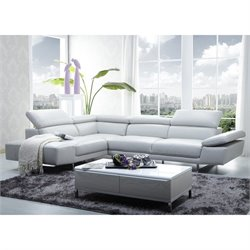 1717 Sectional in White