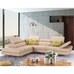J&M Furniture A761 Italian Leather Left Sectional in Peanut