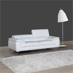 J&M Furniture A973 Leather Sofa in White