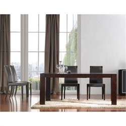 J&M Furniture Colibri 5 Piece Dining Set in Dark Oak