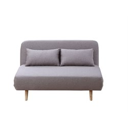 J&M Furniture Premium JK037-2 Microfiber Sleeper Sofa in Beige