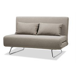 J&M Furniture Premium JK038-2 Microfiber Sleeper Sofa in Beige