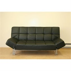 J&M Furniture Venus Sofa Bed in Black