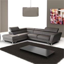 Nicoletti Sparta Leather Sectional in Grey