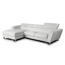 Nicoletti Sparta Leather Mini Sectional in White