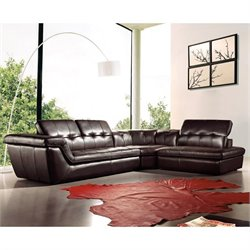 J&M Furniture 397 Leather Right Sectional in Chocolate
