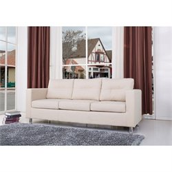 Gold Sparrow Detroit  Fabric Sofa in Beige