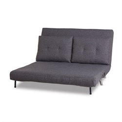 Gold Sparrow Tampa Fabric Convertible Sofa in Gray