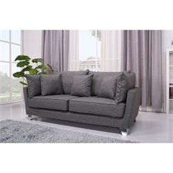 Gold Sparrow Lexington Fabric Sofa in Gray
