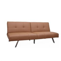 Gold Sparrow Jacksonville Faux Leather Convertible Sofa in Camel