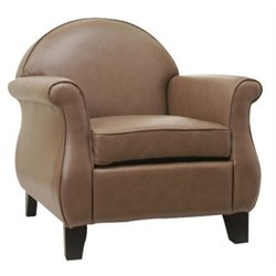 Gold Sparrow Fresno Leather Arm Chair in Taupe