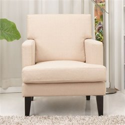 Gold Sparrow Tulsa Fabric Arm Chair in Cream