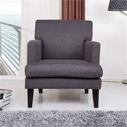 Gold Sparrow Tulsa Fabric Arm Chair in Gray