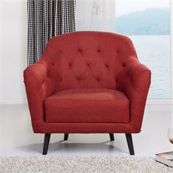Gold Sparrow Aurora Fabric Arm Chair in Rustic Red