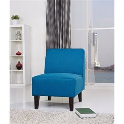 Gold Sparrow Plano Fabric Accent Chair in Blue