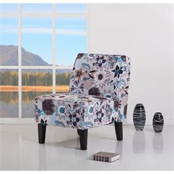 Gold Sparrow Plano Fabric Accent Chair in Flower Print