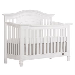 Evolur Fairbanks 5 in 1 Convertible Crib in Winter White
