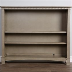 Evolur Cheyenne and Santa Fe Bookcase in Vintage Gray