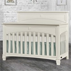 Evolur Santa Fe 5 in 1 Convertible Crib in Distressed White