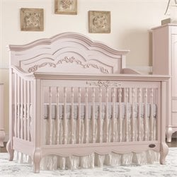 Evolur Aurora 5 in 1 Convertible Crib in Blush Pink Pearl