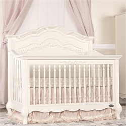 Evolur Aurora 5 in 1 Convertible Crib in Ivory Lace