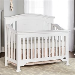 Evolur Sawyer 5 in 1 Convertible Crib in Distressed White