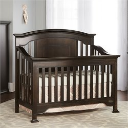 Evolur Sawyer 5 in 1 Convertible Crib in Cafe Noir