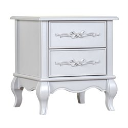 Evolur Aurora Nightstand in Akoya Gray Pearl