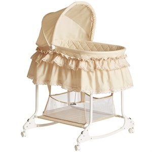 Dream On Me Willow Bassinet in Beige