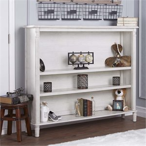 Evolur Julienne 3 Shelf Bookcase Hutch
