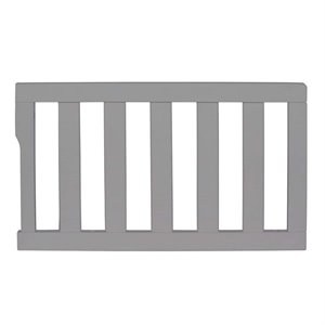 Dream On Me Universal Convertible Toddler Guard Rail in Gray Pearl