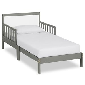 Dream On Me Brookside Toddler Bed in Steel Grey