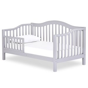 Dream On Me Austin Toddler Bed in Pebble Grey