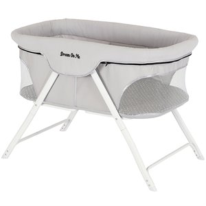 Dream On Me Traveler Portable Baby Bassinet in Cloud Gray