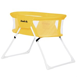 Dream On Me MacKenzie Portable Bassinet in Yellow