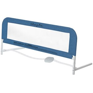 Dream On Me Security Rail for Twin Size Bed in Navy