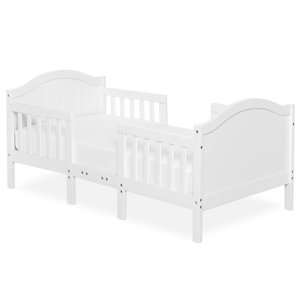 Dream On Me Portland 3 in 1 Convertible Toddler Bed in White